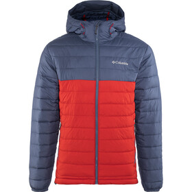 Columbia Powder Lite Chaqueta con capucha Hombre, red spark/dark mountain